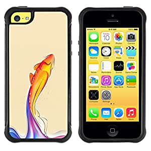 BullDog Case@ Rainbow Koi Fish Rugged Hybrid Armor Slim Protection Case Cover Shell For iphone 5C CASE Cover ,iphone 5C case,iphone5C cover ,Cases for iphone 5C