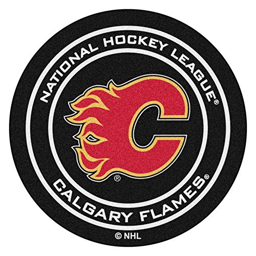(FANMATS NHL Calgary Flames Nylon Face Hockey Puck)