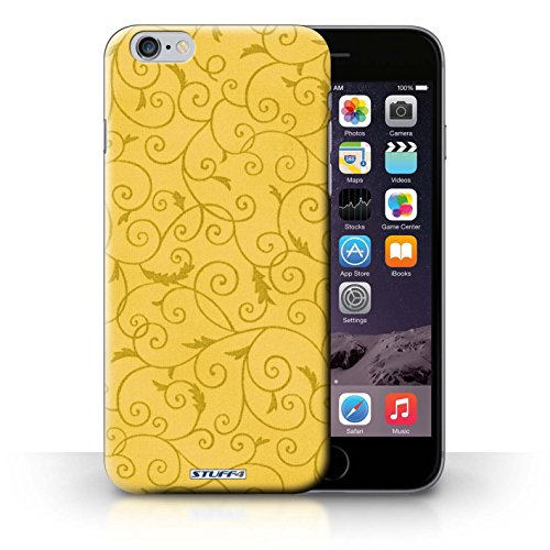 iCHOOSE Print Motif Coque de protection Case / Plastique manchon de telephone Coque pour iPhone 6+/Plus 5.5 / Collection Motif de la vigne / Jaune