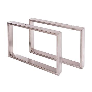 Sossai Edelstahl Tischgestell Couchtisch Untergestell Basic 2