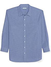 Men's Big & Tall Long-Sleeve Gingham Casual Poplin Shirt fit by DXL
