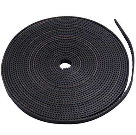 Tesseract Open Timing GT2 Toothed Belt Rubber Aramid Fiber with steel core 2mm Pitch 6mm Width Anti Slip Rubber Timing Belt with Strong Abrasion Resistance, Low Noise for 3D printer (2m, 6mm)