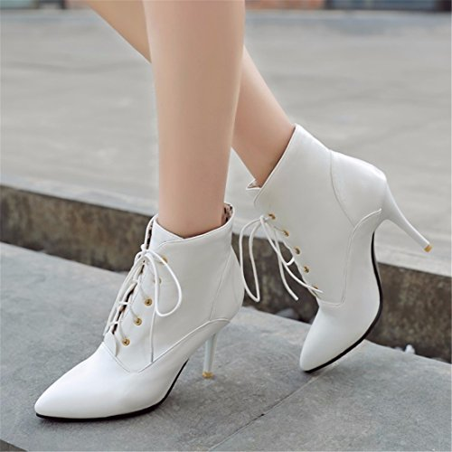 High heels boots light skin size shoes White Zk5qHbgn