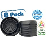 Bed Bug Interceptors Bed Bug Trap 8 Pack Black. Revolutionary Design ensures NO Talcum Powder, Pesticides or Additional Products Needed. Most Reliable Bed Bug Traps on The Market.