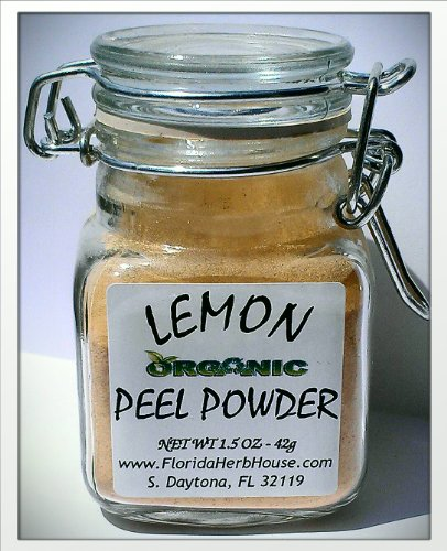 Lemon Peel Ground 1.5 oz. (42g) - Organic Eco Friendly Gifts! - Eco-Spices!
