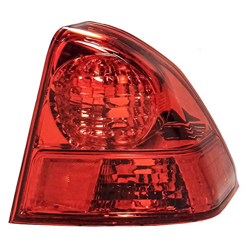 Passengers Taillight Quarter Panel Mounted Tail Lamp Replacement for Honda ()