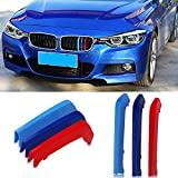 VANJING M-Colored Stripe Grille Insert Trims for BMW F30 2013-2018 3 Series (8 Beams) Kidney Grills …