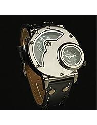KitMax (TM) Multi Time Zone PU Leather Band Nautical Sport Men Quartz Wrist Watches