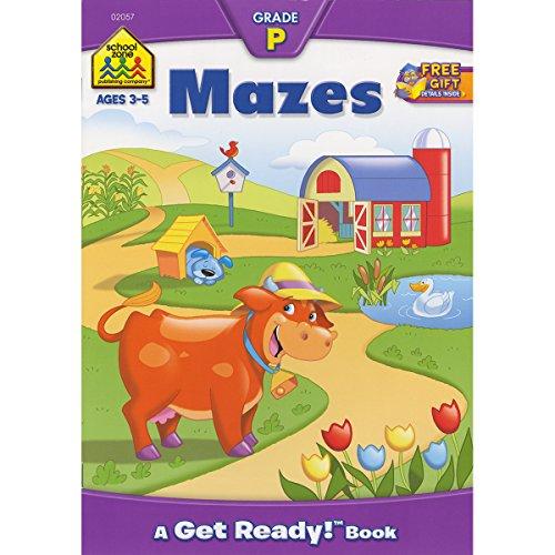 Preschool Workbooks 32 Pages-Mazes]()