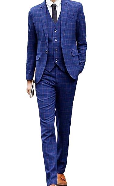 Amazon.com: BYWX - Conjunto de traje de lino de 3 piezas ...