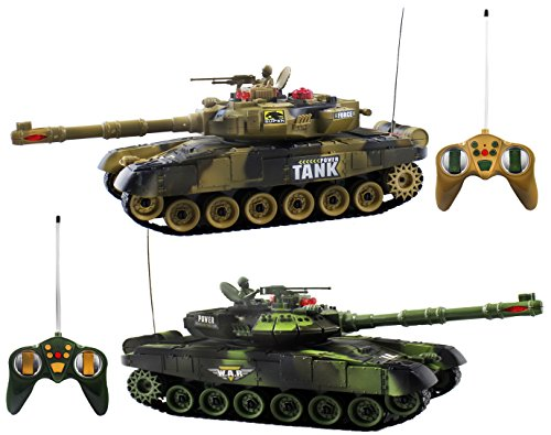 Haktoys HT502 RC 12'' Fighting Battle Tanks with LED Life