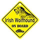 KC Creations Irish Wolfhound On Board Dog Sign Gift