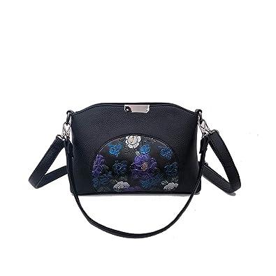 2d4659335221a Fishbag Umhängetasche Tasche Schwarz Leder Damen Umhänge Handtaschen  Abendtasche Schicke Taschen Vintage Glitzer Mode Elegant Hochzeit