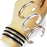 Stainless Steel Grooved Cuff Bracelet & Hair Tie - Best Reviews Guide