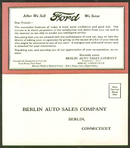 Ford Dealers In Ct >> Amazon Com Tell Us Friends Ford Berlin Auto Sales Ct