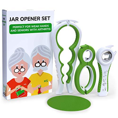 Healthy Seniors Jar Opener Set – The Jar Opener For Seniors With Arthritis, Weak Or Rheumatoid Hands
