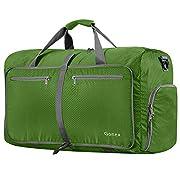 Gonex 80L Foldable Sport Duffels Travel Bag Large Sport Holdall Bag Packable Gym Bag Lightweight Waterproof Luggage