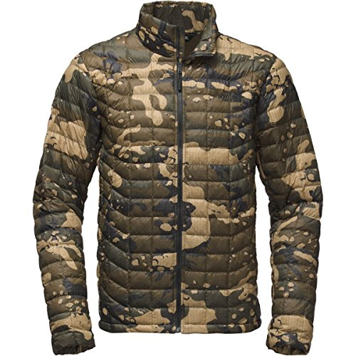 The North Face Men's Thermoball Jacket (Sizes S - XXL) Burnt Olive Green Woodchip Camo Print
