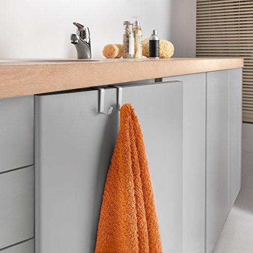 Metaltex oasis porta asciugamani laccato polytherm con 2 ganci per mobiletto da bagno - Amazon porta asciugamani bagno ...