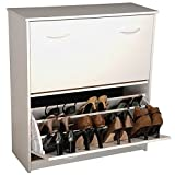 Venture Horizon Double Shoe Cabinet- White