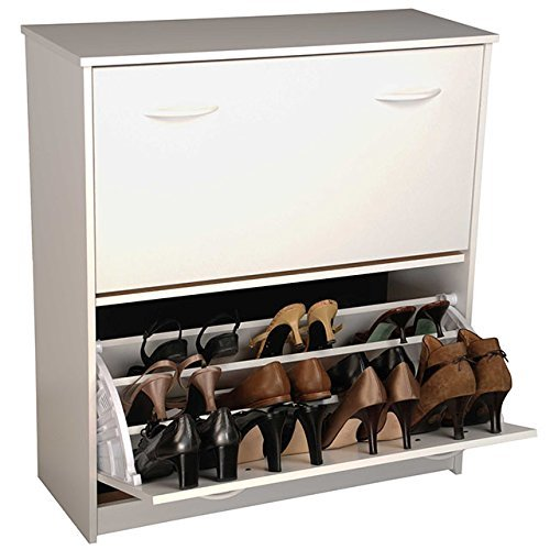 Venture Horizon Double Shoe Cabinet- White by Venture Horizon