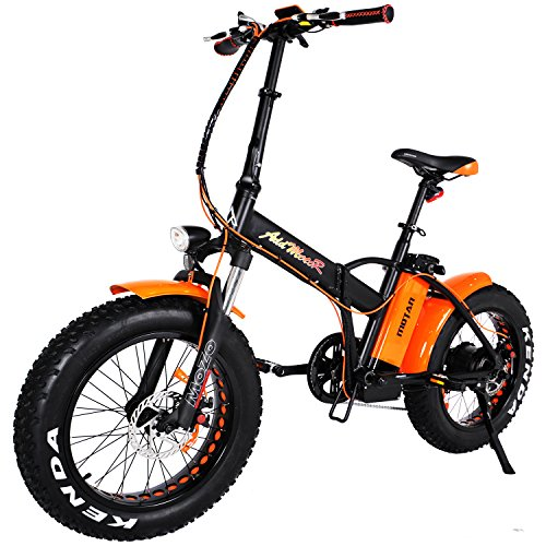"Addmotor MOTAN Folding Electric Bike 750W, 20"", Fat Tire, (Orange)"