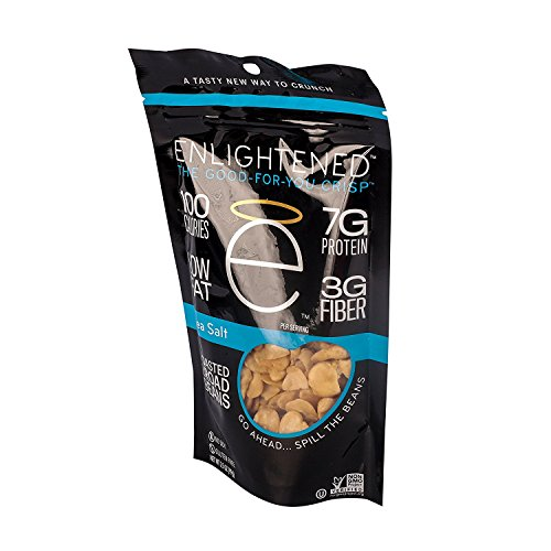 Enlightened Plant Protein Gluten Free Roasted Broad (Fava) Bean Snacks, Sea Salt, 4.5 Ounce