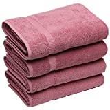 "Turkish Luxury Hotel & Spa 27""x54"" Bath Towel Set of 4 Turkish Cotton - Eco-Friendly (Bath Towels, Rose)"
