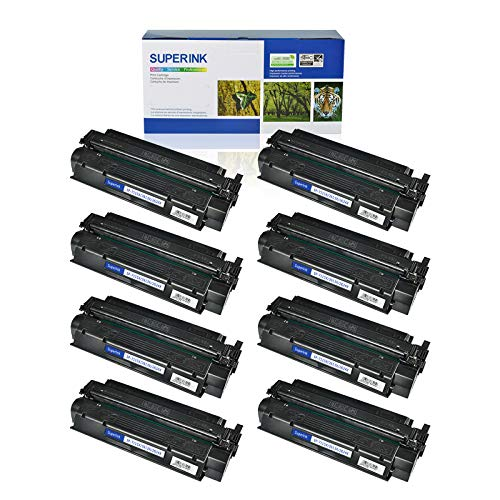 (SuperInk 8 Pack High Yield Compatible Toner Cartridge Replacement for HP 13X Q2613X Black use in Laserjet 1300 1300n 1300xi Printer (4000 Pages Yield))