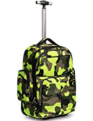 HollyHOME 20 inches Large Storage Multifunction Waterproof Travel Wheeled Rolling Luggage Backpack for Boys Travelling...