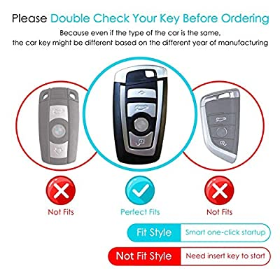 BMW Key Fob Cover, Full Protection Soft TPU Key Fob Case Compatible with BMW 1 3 4 5 6 7 Series and X3 X4 M5 M6 GT3 GT5 Keyless Remote Control Smart Key Fob (Silver): Car Electronics