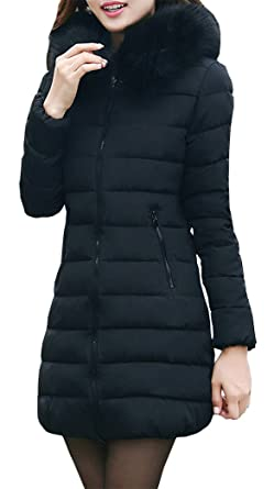 8e0657f4dabb Yeesea Damen Mantel Wintermantel Steppmantel Warme Jacke lang  Amazon.de   Bekleidung