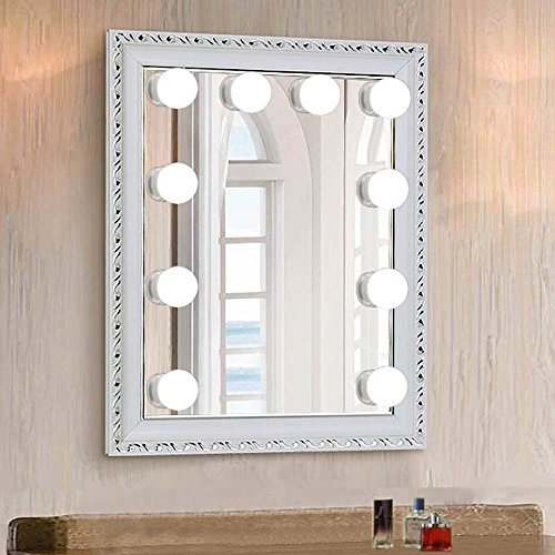 chende hollywood style led vanity mirror lights kit with dimmable light bulbs lighting fixture. Black Bedroom Furniture Sets. Home Design Ideas