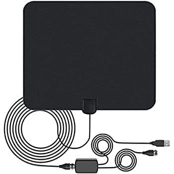 TV HDTV Antenna Digital Antenna - 50 Miles Range Indoor TV Antenna with Detachable Amplifier,