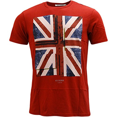 ben-sherman-mens-short-sleeve-union-jack-tee-mb12315-dawn-red-t-shirt