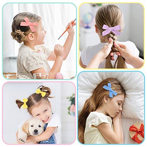 Girls Hair Bow Clips, 20PCS Hair Barrettes Hair Ties Kids Party Gift