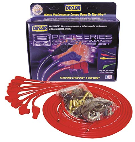 - Taylor Cable 70251 Red Universal 8mm Pro-Wire Resistor Wire Core Ignition Wire Set