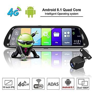Sothat Android 8.1 Coche DVR GPS Navigator CáMara 10 Pulgada FHD ...