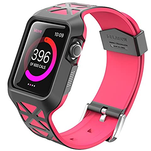 Apple Watch 2 Case, i-Blason Unity Series Premium Protective Bumper Protective Case [Updated Version] for Apple Watch 42 mm 2016 Release [Compatible with Apple Watch 42 mmFirst Generation] (Pink)
