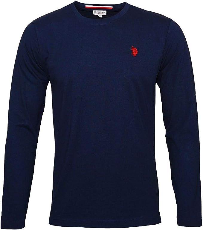 U.S. POLO ASSN. Suéter de los Hombres Azules de Cuello 173 42965 ...