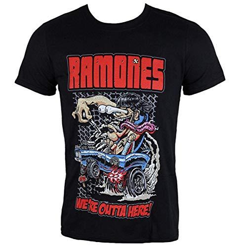 Metal Ramones (RockFeelTEEt-Shirt Metal Men's Ramones - Outta Here)