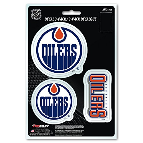 NHL Edmonton Oilers Team Decal, 3-Pack ()