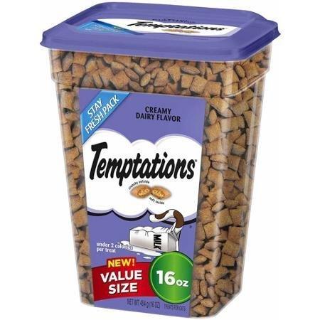 Whiskas Temptations Cat Treats, Creamy Dairy Flavor, 16oz