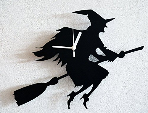 Halloween Witch Silhouette - Wall Clock]()