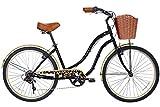 Gama Bikes Boardwalk 26-Inch Crayon Step Thru 6 Speed Shimano Cruiser Bicycle, 17-Inch, Grey