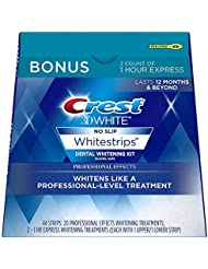 Crest 3D White Professional Effects Whitestrips Whitening Strips Kit, 22 Treatments, 20 Professional Effects + 2 1 Hour Express Whitestrips, 44 Count