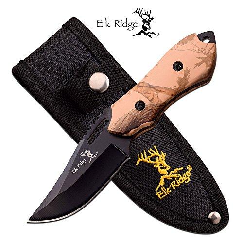 ELK RIDGE CAMO PAKKAWOOD HANDLE ER-562BC FIXED BLADE KNIFE 6