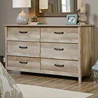 Sauder Cannery Bridge 6 Drawer Dresser in Lintel Oak
