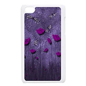 Beautiful Dragonfly Unique Design Cover Case for Ipod Touch 4,custom case cover ygtg-309374
