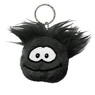 Disney Club Penguin Keychain 2 Inch Plush Puffle Black: Toys & Games